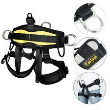 Pro Safety Harness for Rock Climbing Tree Carving Rappelling Fall Protection US