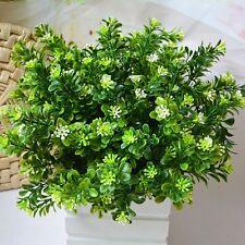 Green Fake Artificial Plant Plastic Flower Grass Bush Home Garden Office Decor