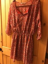 Cupcakes & Cashmere Red Floral Print Knee Length Casual Dress