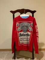 "Official Budweiser ""King of beers"" Christmas sweater size medium"