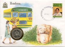 superbe enveloppe HONDURAS pièce monnaie 10 centavos 1980 neuve new unc timbre