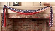 "NEW! Patriotic Americana Vintage "" Ol' BUNTING "" American Flag Banner/Scarf/Swag"