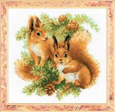 """Counted Cross Stitch Kit RIOLIS - """"Squirrels"""""""