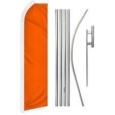 Solid Color Orange Advertising Swooper Flutter Feather Flag Kit Bright Orange