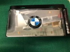 BMW Marque License Plate Polished Stainless Steel OEM 82121470314
