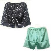Shorts Pants Sleepwear Satin Silk Underwear Boxers Pyjamas Nightwear Mens