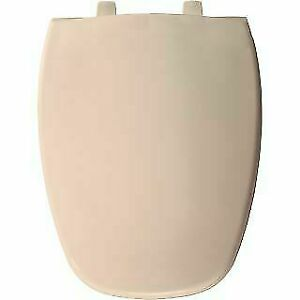Bemis 1240205 346 Plastic Elongated Toilet Seat, Biscuit