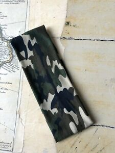 GREEN CAMOUFLAGE Soft Stretchy Headband One Size