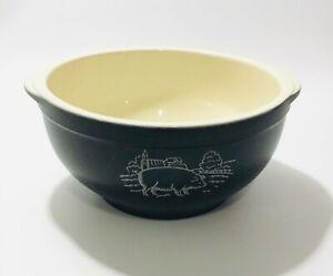 "French Ceramic Mixing Bowl Cooking Baking Kitchen Farmhouse 8"""