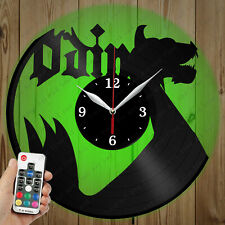 LED Vinyl Clock Odin LED Wall Art Decor Clock Original Gift 2948