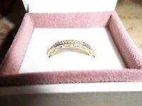 Genuine Pandora 14ct Gold & Diamond Eternity Ring 150163D Size 56 - RRP £795