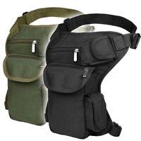 Tactical Drop Leg Bag Military Thigh Panel Utility Waist Belt Outdoor Pouch Bag