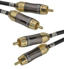 aricona Cinchkabel 1 Meter Gold Cinch Kabel HiFi Stereo Audiokabel RCA Anschluss