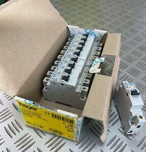 Hager ML710 MCB Ph/N SP&N C Type 10A 6kA