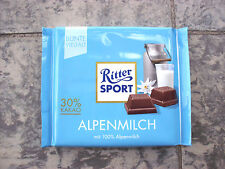 8 x Ritter Sport -Alpinmilk- chocolate bars of 100 gr