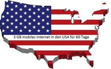 Prepaid USA SIM 3 GB für AT&T & t-Mobile Standard/Micro/Nano für 60 Tage