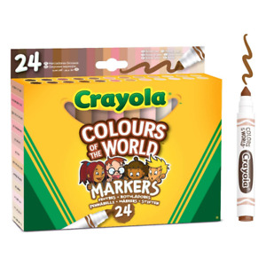 Crayola - Colours of the World Washable Markers - 24-Pack