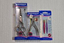 ORIGINAL Tweezerman LTD BLUE PACKAGE, Sheers Nipper and Tweezer Set LOT A1