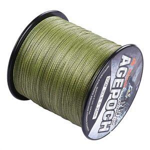 Power Line 100M-2000M Pro Army Green PE Dyneema Braided Fishing Line 6-300LB