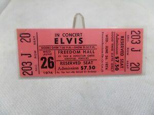 ELVIS PRESLEY Original 1974 CONCERT TICKET STUB Louisville Kentucky Freedom Hall