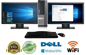 """Dell Desktop Computer🚩32GB 2TB SSD Quad Core i7 🚩Win 10 Pro PC Dual 30"""" Crypto"""