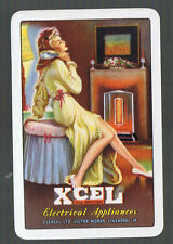 Playing Swap Cards 1 GENUINE  VINT  RETRO LADY  XCEL  ELECTRICAL APPLIANCES #135