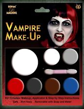 Halloween Vampire Make up Face Paint Palette Set White Black Red Fancy Dress