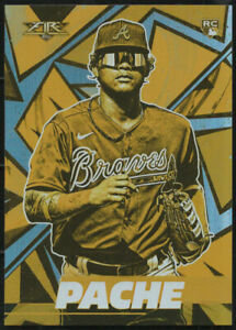 """2021 Topps Fire CRISTIAN PACHE """"GOLD MINTED"""" RC Rookie Card #83"""