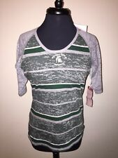 Michigan State Antigua Women's NCAA NWT Medium Green/Heather Soft S/S Shirt