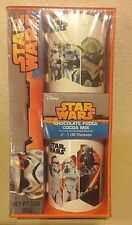 Star Wars 2 White Mugs Gift Set Box with Cocoa Mix NEW In Factory Seal