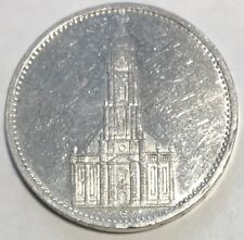 """1935-E GERMAN  """"NAZI"""" **** 5 REICH SILVER COIN **** L@@K AT PICTURES!!!!!  #1487"""