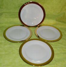 """Ralph Lauren China Academy Gold Bread & Butter Plate Set of 4 6.5"""" dia"""