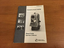 SPECTRA PRECISION TOTAL STATION CONSTRUCTOR 50/55 SHORT MANUAL SURVEYOR