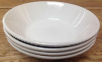 Midwinter Wedgwood Stonehenge England 54718 All White 4 Coupe Cereal Bowls Slant