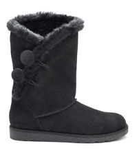Womens 8 Boots w/ Fur Lining NEW Black Suede IMAGE Casual Boot Shoes NIB 8M