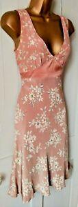 SWEET MINOSA floral RETRO style lined tea dress floaty and elegant UK8 wedding