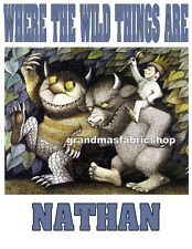 New Personalized custom Where The Wild Things Are T shirt