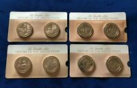 Franklin Mint History of the U.S Bronze 8 Medallions in Original Packaging