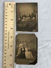 Antique Victorian TINTYPES Ladies Couples Fashion Clothing Hats PULLMAN NIECE