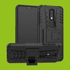 Para Nokia 7.1 5.84 Pulgadas Carcasa Híbrida 2 Piezas Exterior Negro