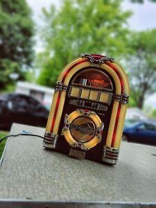 Juke Box Tabletop AM/FM Radio CD Player CROSLEY Collector's Edition Works! read*