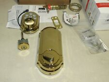Kwikset Smart Code 909 Touchpad Electronic Deadbolt Gold 99090-017 61005-001