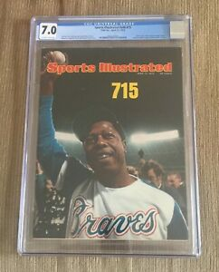 APRIL1974 Hank Aaron 715 Sports Illustrated CGC 7.0  Iconic Issue NEWSSTAND RARE