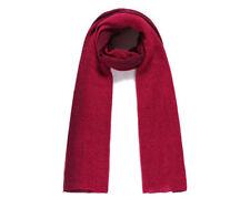 Ladies Women Thich Red Soft Long Plain Scarf Wrap Shawl Pashmina UK