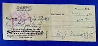 WILL DURANT SIGNED CHECK (1946) Writer: The Story of Civilization 100% GUARANTEE