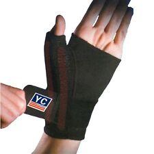 YC Black Neoprene Thumb Wrist Hand Palm Splint Support Spica Medical Stabiliser