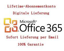 Microsoft Office 365 Pro Plus 2016 Lebensze Abonnement für 5 PC/MAC 5TB Onedrive