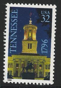 US Scott #3070, Single 1996 Tennessee 32c VF MNH