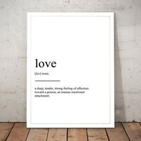 """""""Definition of Love"""" Print - Unique Art Poster - A4 to A0 Framed"""