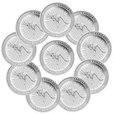 Lot of 10 - 2019-P Australia Silver Kangaroo $1 Coins SKU55523